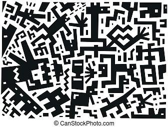 ilustração, vetorial, abstratos