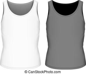 ilustração, vetorial, costas, cheio, singlet