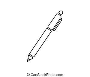 ilustração, vetorial, desenho, ícone, caneta