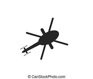 ilustração, vetorial, desenho, helicóptero, logotipo, ícone
