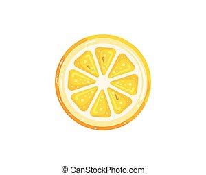 ilustração, vetorial, desenho, laranja, logotipo, ícone