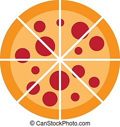 ilustração, vetorial, desenho, logotipo, pizza, ícone