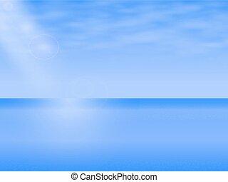 ilustração, vetorial, mar, paisagem