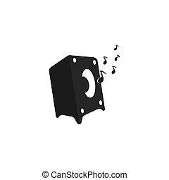 ilustração, vetorial, orador, modelo, logotipo, ícone