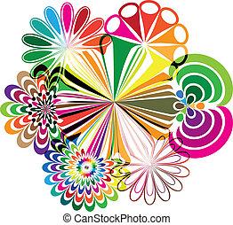 ilustrações, abstratos, flores