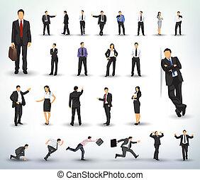 ilustrações, pessoas negócio