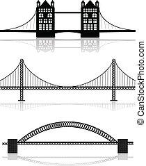 ilustrações, ponte