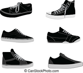 ilustrações, sneakers