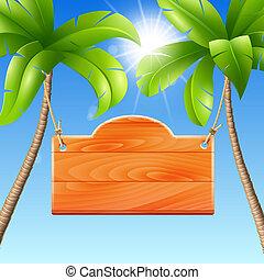 ilustrace, jako, jeden, summer prázdniny, do, ta, moře