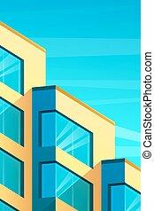 ilustrace, o, budova, do, moderní, móda