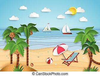 ilustrace, o, obrazný vytáhnout loď na břeh