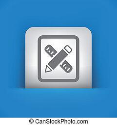 ilustrace, o, svobodný, vektor, icon.