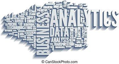 ilustración, analytics, empresa / negocio, análisis