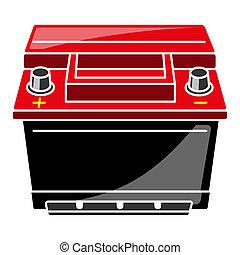 ilustración, batería del carro