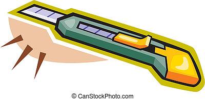 ilustración, cortador
