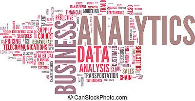 ilustración, de, analytics, empresa / negocio, análisis