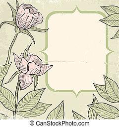 ilustración, de, flores