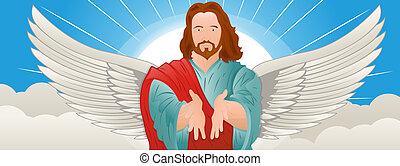 ilustración, de, jesucristo