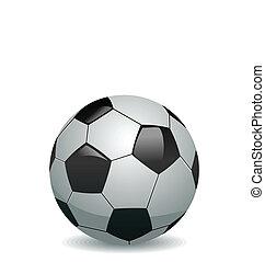 ilustración, de, pelota del fútbol