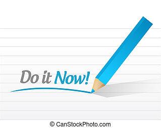 ilustración, diseño, ahora, mensaje, él