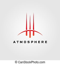 ilustración, diseño, atmósfera, logotipo, cometa, vector
