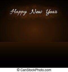 ilustración, dorado, decoration., card., destello, luz, texto, símbolo, glitter., vibrante, fondo., vector, diseño, deseo, año, brillo, nuevo, navidad feliz, celebration., lujo