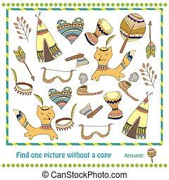 ilustración, educativo, juego, para, niños, -, hallazgo, imagen, withuot, copia