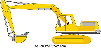 ilustración, excavador