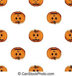 ilustración, grande, patrón, tema, halloween, coloreado