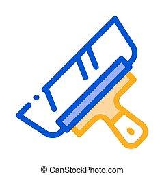ilustración, icono, cuchillo, contorno, paleta, vector