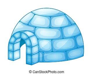 ilustración, iglú