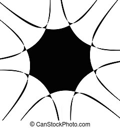 Ilustración, Irradiar, Espiral, Extracto, líneas, Espiral,...