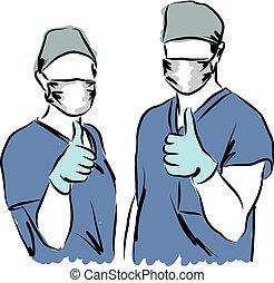 ilustración médica, personal
