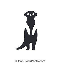 ilustración, meerkat, silueta