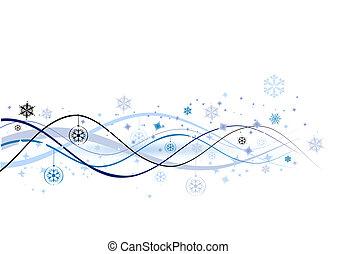 ilustración, navidad, plano de fondo, vector, diseño, ...