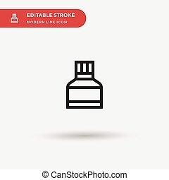 ilustración negocio, su, turpentine, color, perfecto, tela, vector, plantilla, editable, moderno, stroke., proyecto, simple, pictogram, móvil, símbolo, element., iconos, diseño, icon., ui