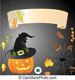 ilustración, para, halloween