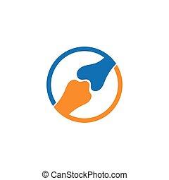 ilustración, plantilla, logotipo, vector, hueso