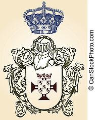 ilustración, protector, diseño, conjunto, ingenio