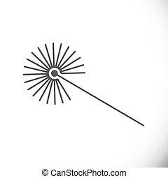 ilustración, rayo, vector, lazer, icon., tecnología