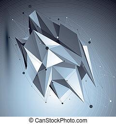 ilustración, resumen, cibernético, vector, tecnología, perspectiva, geo, 3d