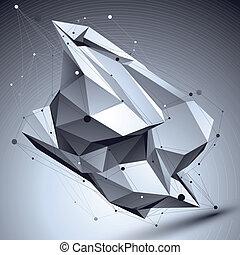 ilustración, resumen, geome, vector, perspectiva, tecnológico, 3d