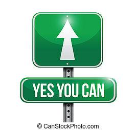 ilustración, señal, diseño, lata, sí, usted, camino
