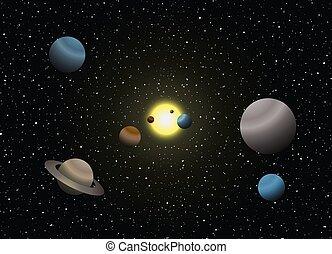 ilustración, sistema solar