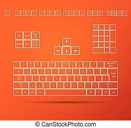 ilustración, teclado