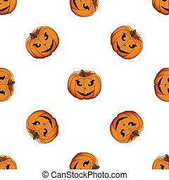 ilustración, tema, halloween, coloreado, grande, patrón