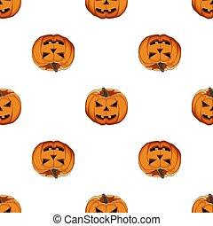 ilustración, tema, halloween, patrón, grande, coloreado