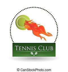 ilustración, tenis, editable, aislado, vector, icon., deporte, design.