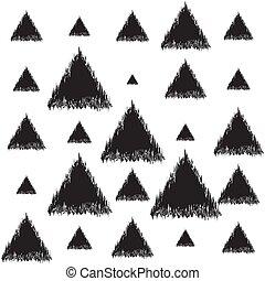 ilustración, triángulos, infinito