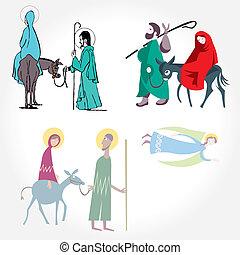 ilustración, vector., estrella, de, bethle